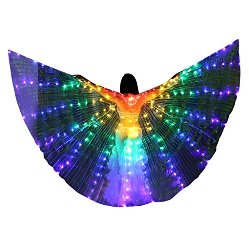 Mitlfuny Haare Frisuren Set,Haar Zubehör Styling Set,Hair Styling Accessories Kit Set,LED Butterfly Wings Bauchtanz Kostüme Glowing Performance - Butterfly Wing Kostüm