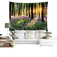 QEES Green Forest Tapestry Wall Hanging Art Decoration Wall Throw Blanket 59 * 51 Inch GT07