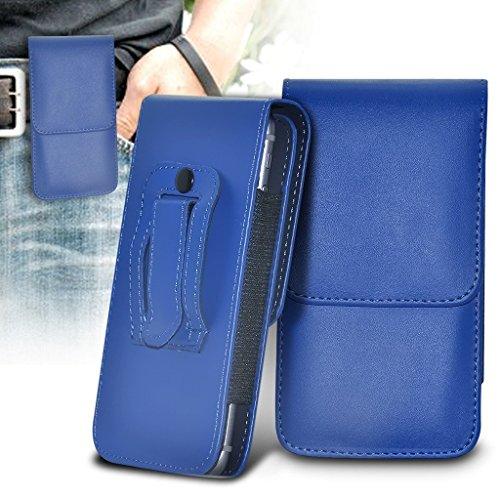 Preisvergleich Produktbild (Blau 152,4 x 74,7) Fall für Samsung Galaxy J7 Pro (PU) Leder-Gurt-Klipp-Beutel-Fall-Schlag-Abdeckung Holster mit Magneten + versenkbaren Stylus Touchscreen Stift Samsung Galaxy J7 Pro Fall von i-Tronixs