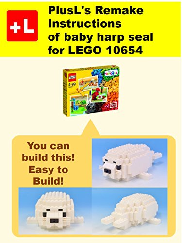PlusL's Remake Instructions of baby harp seal for LEGO 10654 : You can build the baby harp seal out of your own bricks! (English Edition) - Harp Seal Baby