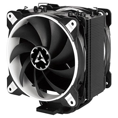 Arctic Freezer eSports Edition – Dissipatore di processore semi-passivo con ventola da PWM 120 mm, Dissipatore per CPU fino una potenza di raffreddamento – Bianco