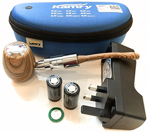 Genuine Kamry K1000 ePipe Kit with Uk Charger in Various Colours (Walnut) by Kamry K1000 ePipe