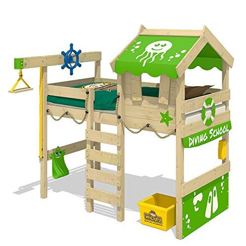 WICKEY Kinderbett 'CrAzY Jelly' - Hochbett - Spielbett - 90x200 cm -