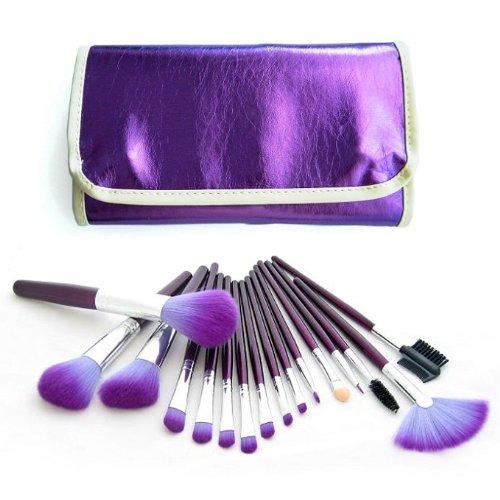 frola-cosmetics-kosmetikpinsel-set-16-teilig-inkl-ledertasche-in-lila