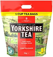 Yorkshire Tea, 1200 One Cup Tea Bags 3 Kg (total 1200 teabags)