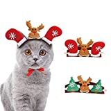 RCruning-EU Cute Elk Dog Christmas For Cats Dogs Doggy Puppy Kitten Christmas Reindeer Antler Accessory 2pack