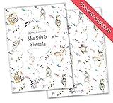 Olgs Hausaufgabenheft Hülle Boho Freunde Schutzhülle schöne Geschenkidee personalisierbar mit Namen (Personalisiert, Boho Muster)