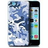 Coque en plastique pour Apple iPhone 5C Collection Armée/Marine militaire/Camouflage - Bleue 1