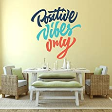 DeStudio 'Positive Vibes Only' Wall Sticker (PVC Vinyl, 60 cm x 70 cm)