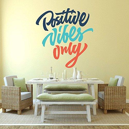 DeStudio 'Positive Vibes Only' Wall Sticker (PVC Vinyl, 60 cm x 70...