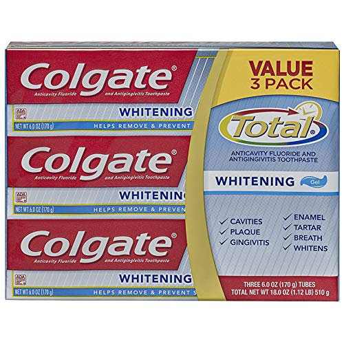 Colgate Total Whitening Toothpaste (170GM, Pack of 3)