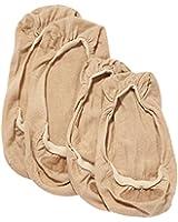 ELBEO Damen Füßlinge Ballerina Baumwoll Füßling Doppelpack/902515, 2er Pack