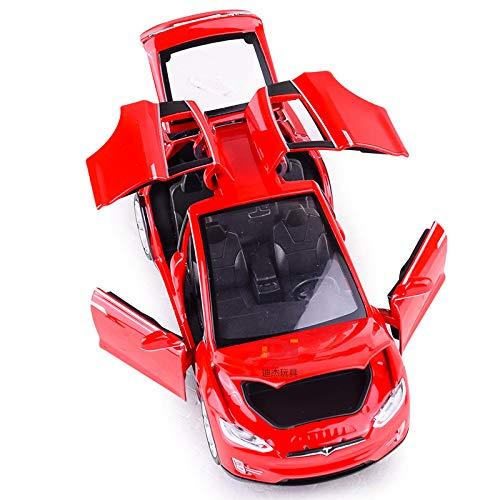 Preisvergleich Produktbild QAQW Simulation Tesla Modelx90 Legierung Automodell Kinder Sound Und Licht Ziehen Spielzeugauto Modell Ornamente Zurück
