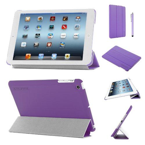 Stuff4®PU Leder Slim zusammenklappbar Multi Position Fall mit Tri Fold Ständer für iPad Mini/Mini Retina-Violett (Ipad Mini Retina Case-portfolio)