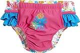 Playshoes Mädchen Schwimmwindel Badewindel Blumenmeer mit UV-Schutz, Mehrfarbig (Pink 18), 74 (Herstellergröße: 74/80)