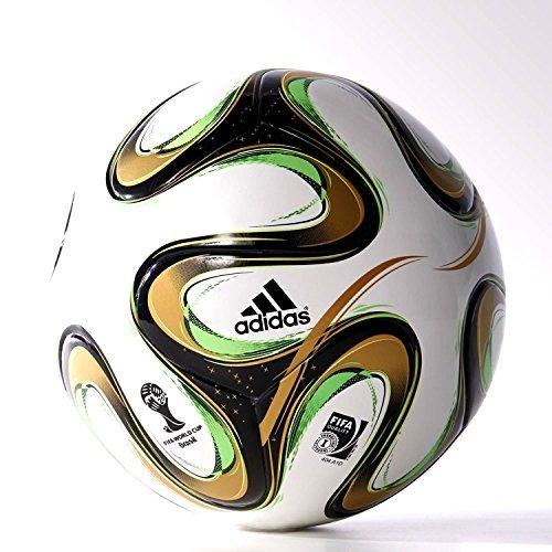 Adidas Glider Football (Top Final Wht/Blk/Gold, 5)