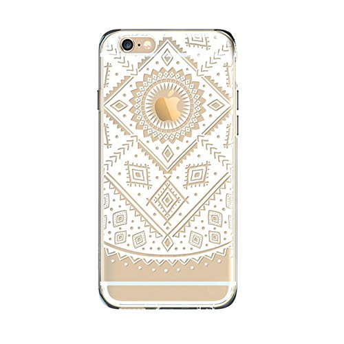 Jinberry Transparente Totem Schutzhülle für iPhone 5/5s/SE (4 Zoll) Dünne Soft TPU Premium Muster Pattern Case Handy Hülle Silikon Slim Tasche Back Cover für Apple iPhone 5/5s/SE - Kranich Fraktalbild
