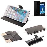 K-S-Trade Schutz Hülle für Haier Phone L53 Schutzhülle Flip Cover Handy Wallet Case Slim Handyhülle bookstyle schwarz