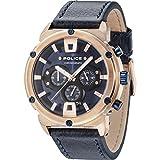 Police Herren Chronograph Quarz Uhr mit Leder Armband 15047JSR/03
