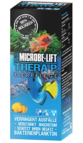 MICROBE-LIFT TheraP – (Qualitäts-Bakterienpräparat, zur optimalen Tierpflege in jedem Meerwasser & Süßwasser Aquarium, für optimale Gesundheit und Wachstum, reduziert Ausfälle, 100 % biologisch, Wasseraufbereiter, ausreichend für 50.400 Liter), 3785 ml - 2