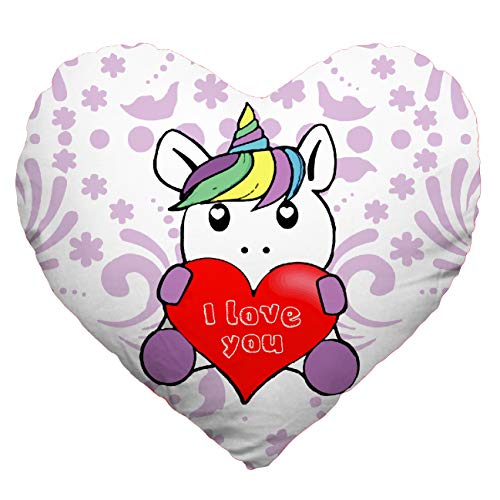My custom style cuscino cuore full print microfibra 30#san valentino - unicornolove#