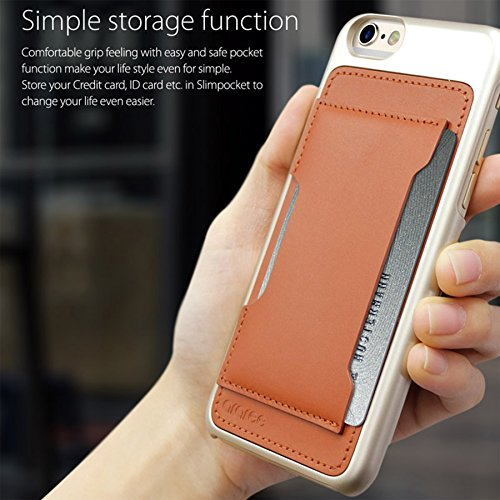 iPhone 6S Schutzhülle, araree® [Slim Pocket] Ultra Slim Card Tasche, mit perfekter Passform für iPhone 6, iPhone 6S Schutzhülle (2016) burgunderfarben