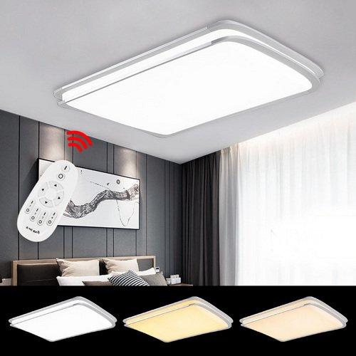 VINGO® 96W Drahtlose Dimmbar Fernbedienung Deckenlampe LED Wohnzimmer Wand-Deckenleuchte