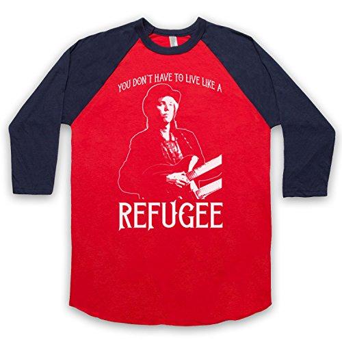 The Guns Of Brixton Tom Petty Refugee 3/4 Manches Retro T-Shirt de Base-Ball
