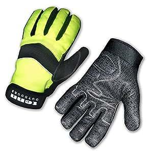 Tenn Unisex Cold Weather Cycling Gloves - Hi-Viz Yellow - Sml (Womens: L)