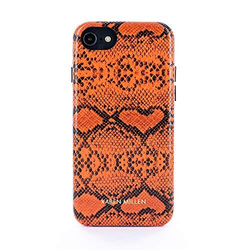 Karen Millen® Python-Leder Schlangenleder Imitat Back-Cover Hülle kompatibel mit Apple iPhone 8/7 / 6 (4.7
