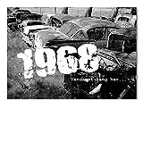 DigitalOase Einladungskarten 1968 50. Geburtstag MIT INNENTEXT 50. Jubiläum Geburtstagskarten 2 Klappkarten 2 Kuverts Format DIN A6#OLDIE