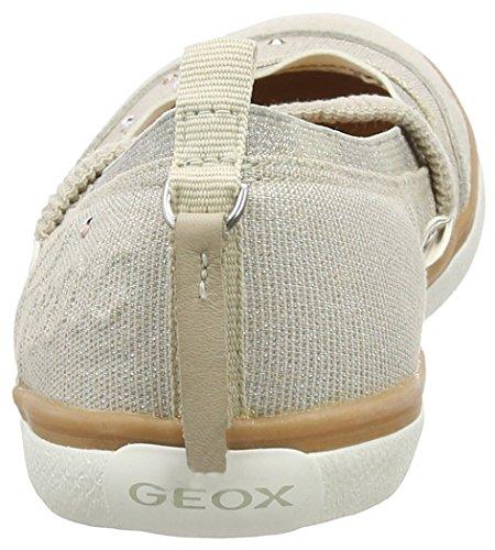 Geox Jr Kiwi Girl B, Ballerines fermées fille Beige - Beige (c5000)