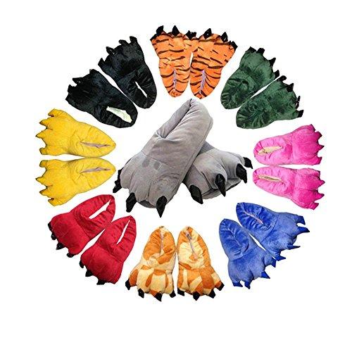 Paws Cartoon Baumwolle Hausschuhe,Paw Claw Schuhe,Warme Pfote-Greifer-Schuhe,Paw Claw Shoes,Claw Shoes,Klaue Schuhe,Creative Hausschuhe Rot