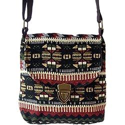 bolso de hombro tailandés étnico bolso de las señoras del estilo del hobo del hombro del bolso de las mujeres Slouch NUEVO (marrón)