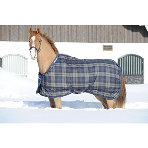 Bucas Celtic Midweight Horse Stable Blanket - Size:81 Color:Blue Tartan by TOKLAT