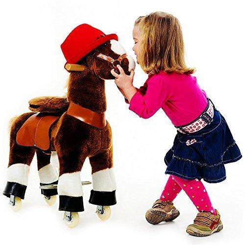 """Ponycycle """" Amadeus """" Pferd hell braun, Pony auf Rollen fahrendes Schaukelpferd und Kuscheltier für Ihr Kind von MyPony (Small)"""