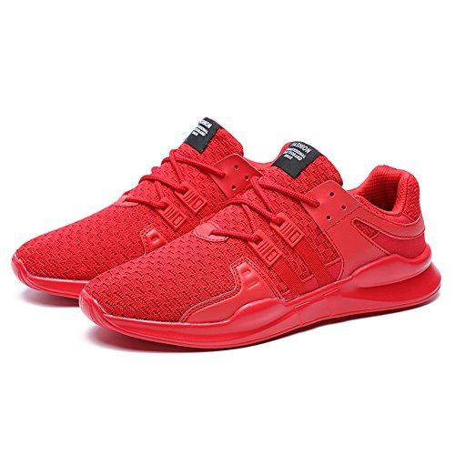 SPEEDEVE Uomo Scarpe da Sportive Corsa Ginnastica Sport e Tempo Libero Sneakers Rosso