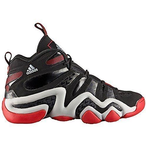 adidas Crazy 8 Schuhe Turnschuhe Basketball Trainers Schwarz (Lite-basketball-schuhe)