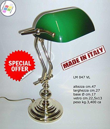 - extra Luxus cm.47Schreibtisch Tisch Ministerieller Churchill Glas grün -