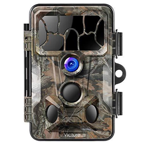 """Victure Wildkamera mit Bewegungsmelder Nachtsicht 20MP 1080P 130° Weitwinkel Vision IP66 Wasserdicht mit 2,4\""""LCD Display für Jagd und Sicherheit zu Hause"""