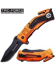 Tac Force Evasion Emt Couteau tactique Orange