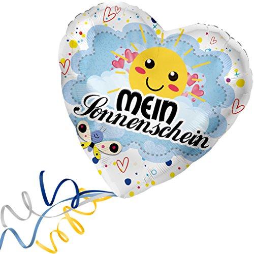 > > > Fertig Heliumbefüllt < < < Folienballon großes Herz rote Herzen Mein Sonnenschein Ballon mit Helium/Ballongas gefüllt Liebe Heiratsantrag Valentinstag von Haus der Herzen®