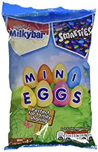 Nestle Milkybar and Smarties Mixed Mini Eggs Bag, 300 g (Pack of 6)
