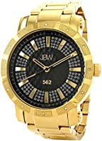 JBW 562 Men's Black 12 Diamonds Stainless Steel Band Watch [JB-6225-C]