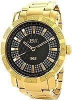 ساعة رجالي جيه بي دابليو 562 سوداء 12 ألماس بسوار ستانلس ستيل [JB-6225-C]