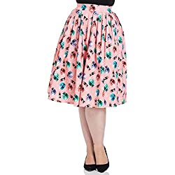 Voodoo Vixen - Falda - para Mujer Rosa XL