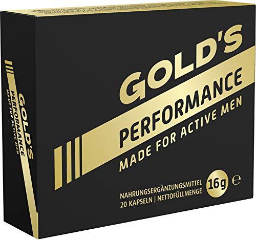 GOLD's Performance For Active Men, für Männer, kraftvoll für Liebe + Lust, Mit Potenz-Baum Extrakt, mehr Spaß weniger Frust, rezeptfrei, 20 Kapseln