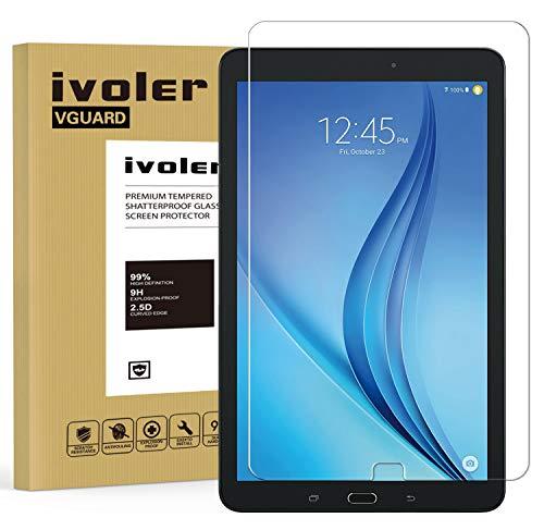 pellicola tablet samsung tab e iVoler Vetro Temperato Compatibile con Samsung Galaxy Tab E/Tab E Nook 9.6 Pollici (SM-T560)