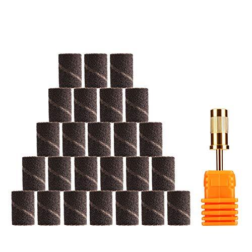 25 × Bandas Abrasivas Para Torno Uñas Papel Lija