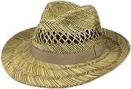 Lipodo Cappello di Paglia Classic Uomo - Made in Italy Estivo Fedora da Sole con Nastro Grosgrain Primavera/Es